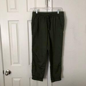 NWT J Crew cotton pants color deep moss